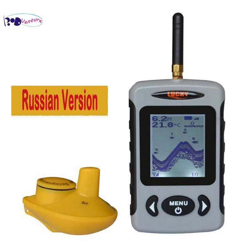 venture russian version lucky ffw718 portable wireless sonar fish, Fish Finder