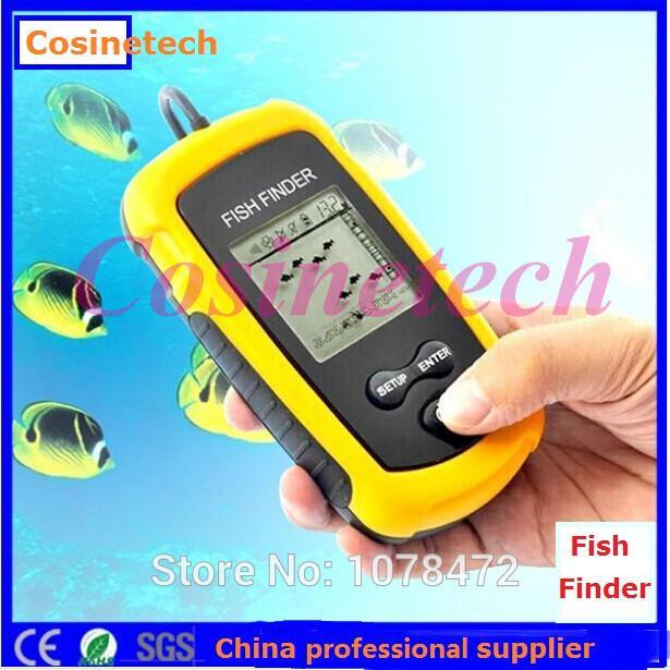 factory price depth sonar sounder alarm transducer fish finder lcd, Fish Finder