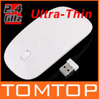 Wholesale Only Ultra Thin Optical Mouse G Wireless White USB Dongle For Laptop Notebook C1119