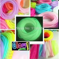 Cheap 5pcs Silicone Bracelet Glow in the dark Unisex Men Women Korean Fashion Wrap Bracelet Bands Loom Bands