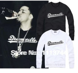 Wholesale 2015 hot sale DREAMVILLE J COLE LOGO printed skateboard sweatshirt hip hop streetwear sweatshirt colors