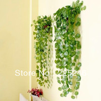 artificial leaves - 5pcs Style Green Leaves Foliage Plant Garden Decor Wedding Home Artificial Ivy Vine JX0118
