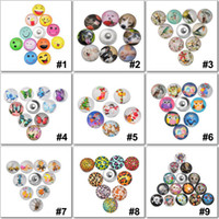 Wholesale styles colors interchangeable ginger snap button charm mm button snap jewelry free ePacket