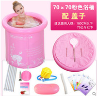 inflatable bathtub for adults - 2 colors Thick folding bathtub inflatable pvc swiming pool for children and adult with lid