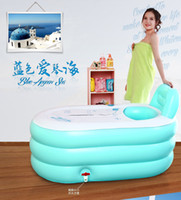 Wholesale Adult inflatable bathtub bath bucket swimming pool thickening bath bucket bathtub folding thermal Large
