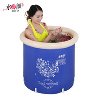 baby bucket tub - Water beauty folding tub bath bucket adult bathtub inflatable bathtub thickening baby bucket bath child tub
