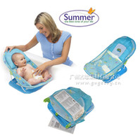 bath chair - 2015 Summer Folding shower chair with a pillow baby bath bed infant baby toddler bath rack shelf GG029