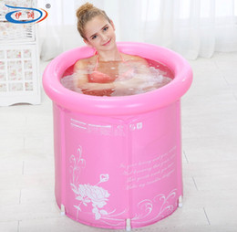 Wholesale Great promotions size with pump Water thickening folding tub adult bathtub inflatable bathtub bath bucket bath bucket