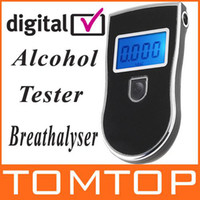 Wholesale Hot Prefessional Police Digital Breath Alcohol Tester Breathalyser Blue Colore Backlight H1912