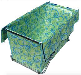 Wholesale size117 cm simple folding bathtub free inflatable bath tub handmade bath barrel adult thicker bath bucket