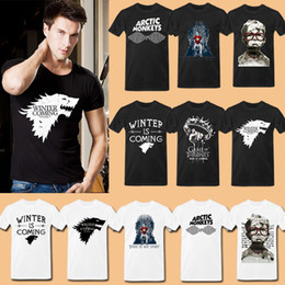 Wholesale Games of Thrones Winter Is Coming The Stark A Song of Ice and Fire Men Shirts The Big Bang Theory T Shirt Arctic Monkeys Shirt
