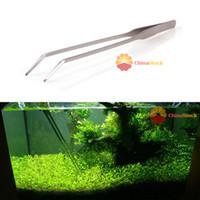 aquarium plant scissors - ChicMart CM Aquarium Live Plant Tank Curve Scissors Stainless Steel Tweezers Tool