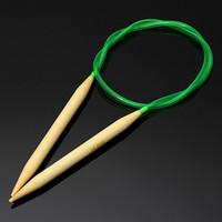 bamboo circular needles - 18Pcs cm Colorfully Plastic Tube Circular Bamboo Knitting Needles Needlework Craft Set