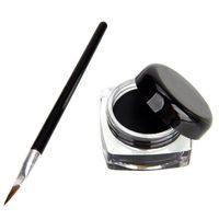 cream eye liner - Set Beauty Waterproof Black Eye Liner Gel Cream Makeup Cosmetic Eyeliner Brush New Arrival
