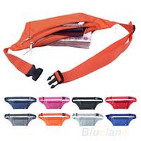 Wholesale Unisex Running Bum Bag Travel Handy Hiking Sport Fanny Pack Waist Belt Zip Pouch H
