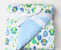 baby blanket receiving - High quality plush baby blanket newborn swaddle wrap Super Soft baby nap receiving blanket animal manta bebe cobertor bebe