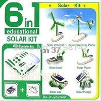 Wholesale Hot sale Solar Power in Toy Kit DIY Educational Robot Car Boat Dog Fan Plane Puppy
