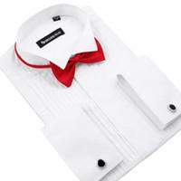 Wholesale Men Tuxedo Shirt Wedding Best Selling long Sleeve Formal shirts white black Pink synthetic XL XXL XXXL XL XL