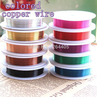 Cheap Wholesale-accessories jewelry for DIY (mixed min order 2 pieces shipping) 7m roll 0.5mm Diameter colored copper wire