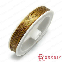 Cheap Wholesale-(9403)75 Meter 0.45MM Gold color Copper Soft Metal thread Diy Jewelry Findings Accessories wholesale for Jewelry making