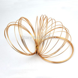 Wholesale mm mm mm Champagne Gold Colored Aluminum Jewelry Craft Soft Wire Coil m roll DIY Craft Aluminium Wire Top Quality