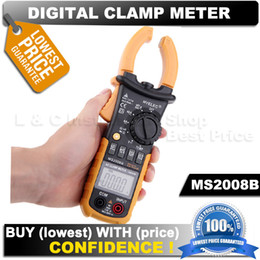 Wholesale professional HYELEC MS2008B Autorange digital dc ampere meter clamp metro equal to FLUKE F322 Counts