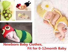 Wrap Newborn Set Infant Baby Girl Boy Crochet Knit Costume Clothes Photo Photography Prop Outfit Caps Baby Knit Costume