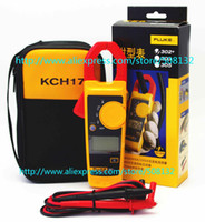 Wholesale FLUKE with coft case KCH17 Handheld Digital Clamp Meter Multimeter Tester