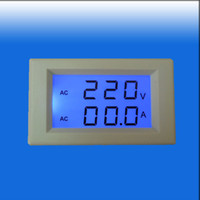 amp combo - AC V A Blue LCD Amp Volt Combo Panel Meter Doesn t Require Power With CT