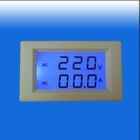 AC 300V 100A Синий LCD Ампер Вольт Combo метр панели не требует питания КТ