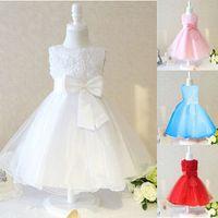 Cheap Wholesale New High-quality flower girl dress for wedding party princess dresses sequined mesh vest children dress