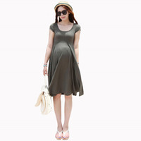 anti radiation clothes - Spring Summer Style Maternity Dresses Causal Model Maternity Clothes Slim Plus Size Vestidos Summer Dress For Pregnant Top