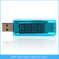 Wholesale Hot KW Mini USB Port Current and Voltage Reader Meter Test Tool V V A A C275