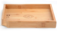 Cheap 23cm*23cm natural bamboo tea tray, high quality exquisite wood tea board   tea dish