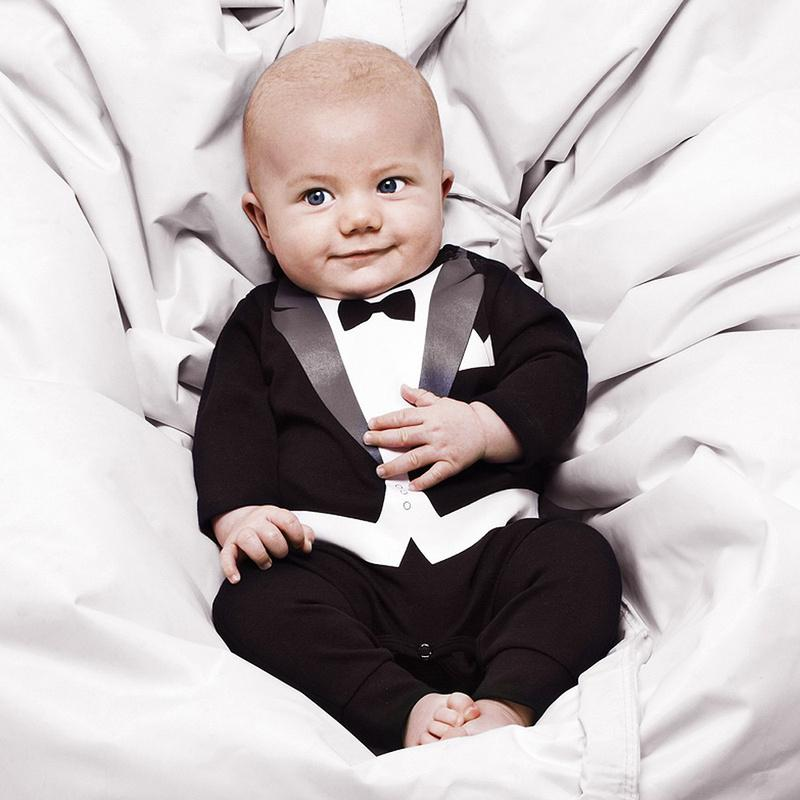 2015 New Baby Boy Romper Formal Dress Autumn Baby Clothes 6m-3 ...
