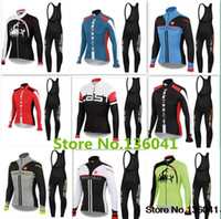 Wholesale Ropa Ciclismo Winter Thermal Fleece Cycling bib Kits Long Style Cycling Jersey bib Pants Bike Cycling Clothing