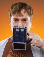 Wholesale Piece Doctor Who Tardis Mug Ceramic Mug With Removable Lid