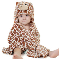 animal head blankets - 2015 Windproof infant blankets with a hood cloak blanket animal head small coral fleece wool blanket with ANEM