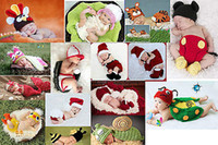 Cheap Hot Newborn Infant Toddler Clothes Boy Girls Baby Handmade Crochet Knit Costume Shoes Cut Photo Photography Prop Outfit 0-6m
