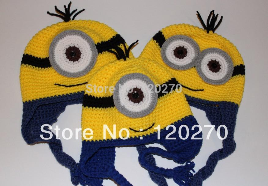 Free Crochet Pattern For Girl Minion Hat : 2017 Despicable Me 2 Minion Hat Crochet Knit Baby Boys ...
