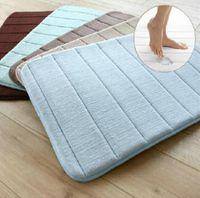 bath pad cottons - 500MM x MM Tapetes Bedding Set Bathroom Slow Rebound Memory Pad Absorbs Waste Coral Velvet Slip Bath Mat Carpet Mats MA1821875