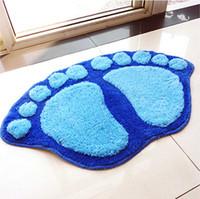 big rugs sale - Hot Sale colors Bath Mat Door Mat Bathroom Slip Resistant Floor Rug Fashion Big Feet Mats CM BZ870584