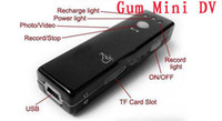 Wholesale Spy Camera Gum Pocket Size Chewing Gum Recorder Mini DV D004 Digital Video Camcorder HOTTEST P we5o