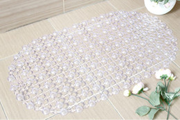 Wholesale Brand New Transparent Pebble Design Anti slip Pad Bathroom Mat Carpet Bathtub Shower Mat Door Mat