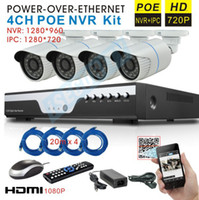 Wholesale Video surveillance Security Camera System P HD IP Camera and P CCTV NVR KIT System ch NVR with POE HDMI P