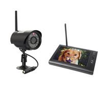 al por mayor sistema de dvr sd cámara inalámbrica-Sistema de Seguridad DVR inalámbrico digital con 7 pulgadas LCD Monitor Tarjeta SD de grabación y de largo alcance de visión nocturna Cámaras CCTV
