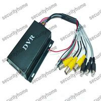 Mini 2 canales DVR Grabador de vídeo CCTV de la vigilancia del detector de movimiento del coche DVR del vehículo de sistema de CCTV