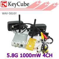 Wholesale 1W G Wieless AV Sender G mW Wireless Video Audio Transmitter Receiver For Transmitting CCTV Camera