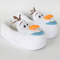 Wholesale 28cm free size winter warm slipper slippers lovely olaf Home Furnishing shoes men shoes woman Stereo