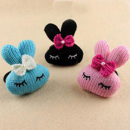 Super Fashion Hair Circle Cute Metoo Rabbit Butterfly Knot Wool Hair Rope Women's multicolor 30pcs